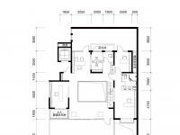 B1户型负一层约180m²3+1室2厅2卫